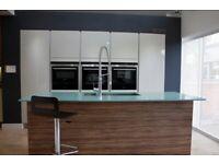 Mereway Pergamom Gloss Kitchen units & solid surface worktop