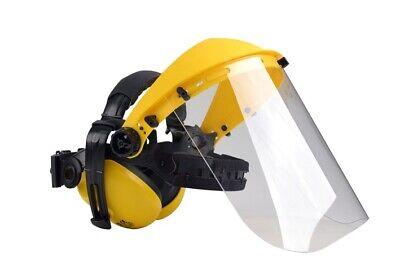 Gesichtsschutz Klarvisier klappbar Augenschutz Polycarbon inkl Gehörschutz