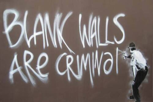Banksy-Blank-walls-are-criminal-cop-graffiti-poster-A2-SIZE
