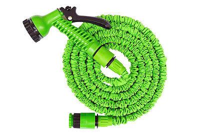 Latex Deluxe 25 50 100 200 FT Expanding Flexible Garden Water Hose +Spray Nozzle  sc 1 st  eBay & Latex Deluxe 25 50 100 200 FT Expanding Flexible Garden Water Hose + ...