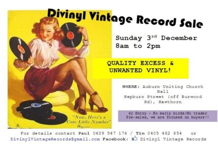 Vinyl Record Sale Divinyl Massive Vintage record sale SUN 3RD DEC