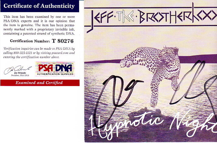 Jeff The Brotherhood signed autographed Hypnotic Nights CD Jake Jamin PSA DNA