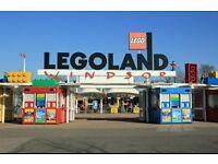 4 legoland tickets (any day)