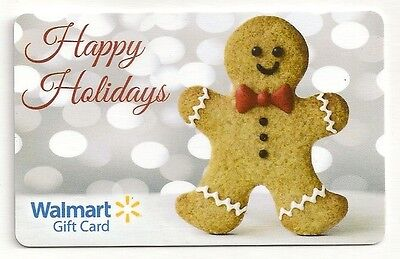 Walmart Gingerbread Man Cookie Happy Holidays Christmas 2014 Gift Card FD-42574 Christmas Cookie Gift Card
