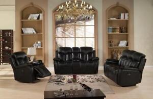 Stylish Recliner Sofa Set with Loveseat in Black ME01 7865 Couch (BD-1302)