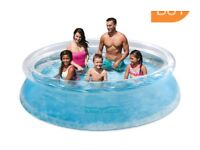 BRAND NEW Summer Waves 10ft Pool + Water Filter Pump + Cover