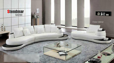 3-Piece Modern Leather Sectional Sofa Set S2300