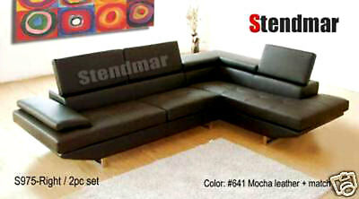 NEW MODERN EURO STYLE LEATHER SECTIONAL SOFA -