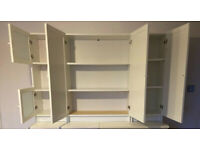 Ikea Billy bookcases with Oxberg doors (3)