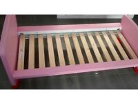 Ikea Childrens Pink/Red Bed Including Mattress VGC...Collection Only.