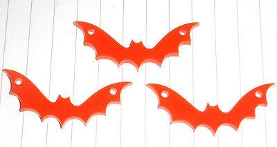 Halloween Spooky Evil Bat charms pendants x 3 Costume DIY