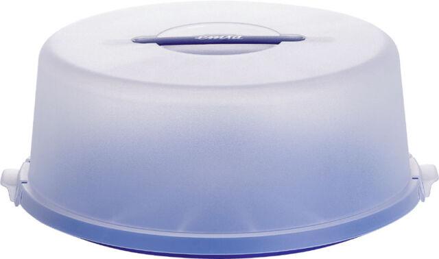 Emsa Partybutler Tortenbutler Tortenbehälter Kuchenbehälter Kuchenbox blau Ø33cm