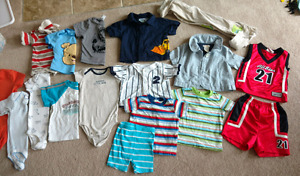 12 month baby boy spring summer clothes-can deliver