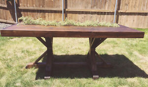 Handmade Solid Wood Double Pedestal Dining Table
