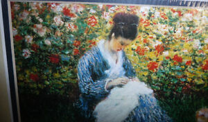 "Claude Monet ""Camille Monet and a Child in the Artist's Garden Stratford Kitchener Area image 7"
