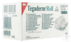 "2 sizes 3M TEGADERM ROLL 4"" or 6"" x 11 Yards TRANSPARENT FILM"