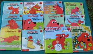 """Clifford Books and Huge 24"""" Clifford & Dog House"""
