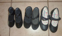 Tap dance shoes, youth sizes 8.5, 10, 13, 1, 2, 3 and 4