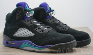AIR JORDAN 5 - RETRO - BLACK GRAPES - SIZE 11