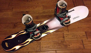 EXCELLENT Furious Ladies Size 10 Snowboard setup  SEE VIDEO