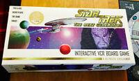 Star Trek TNG Interactive VCR Board Game, Unique Collector's E