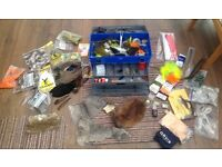 Fishing tackle box full of gear for making up lures. £20
