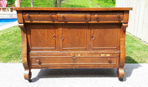 Antique Oak Buffet *Delivery Available*
