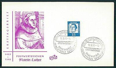 BERLIN FDC 1961 DAUERSERIE MARTIN LUTHER LUTERO ch71