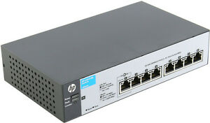 HP ProCurve 8 Port Gigabit Managed Switch 1810-8G J9802A