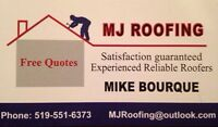 MJ ROOFING EXPERIENCED RELIABLE ROOFING 519-551-6373