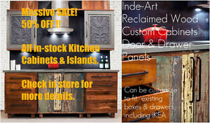 50% OFF Solid Wood Kitchen + Bath Cabinets