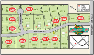 Building lots, Only 4 remain..excellent location.