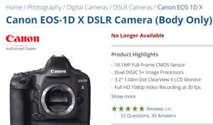looking for a Canon 1DX mark i camera