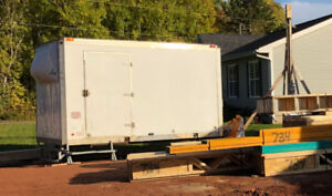 Drake Truck Box Used for Secure Construction Site Storage.