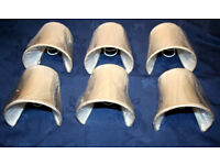 6 Oyster Silk Clip-On Half Shades Lined