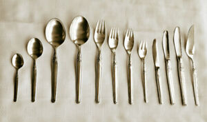 Sterling Silver 925 Flatware Set for 12 persons, 162 pieces