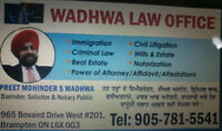 LITIGATION & IMMIGRATION LAWYER. Ph: 905-781-5541