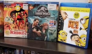 Digital HD Codes -- Despicable Me 3 - Incredibles 2 Hunger Games