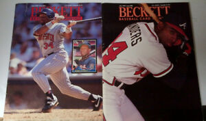 Baseball Beckett guide early 90's - the lot for $5.00