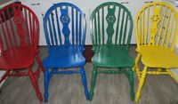 KITCHEN TABLE WITH SET OF 4 FUNKY CHAIRS!