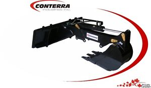 """Conterra - 72"""" Mini Hoe for Skid Steer with 12"""" Tooth Bucket"""