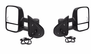 07-14 CHEV GMC TOWING SET OF MIRRORS NEW POWER HEATED SIGNAL