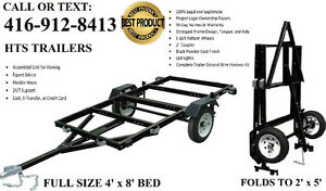 NEW 4'x8' Folding Trailer-Utility,Bike,Boat,ATV $620 Blow Out!