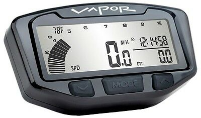TRAIL TECH VAPOR STEALTH SPEEDO BLACK MOTORCYCLE HONDA YAMAHA KAWASAKI SUZUKI