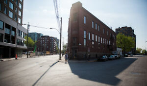 Griffintown / Montreal: retail space 2608 to 4209 sq ft for rent