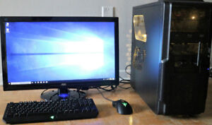 Core i5 4670K, R9 280X 3GB, 24 inch, Desktop Gaming computer PC
