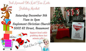 3rd Annual It's Not Too Late Holiday Market