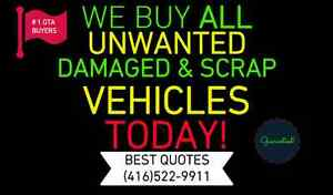 WE BUY ALL UNWANTED & SCRAP CARS, VANS & TRUCKS TODAY
