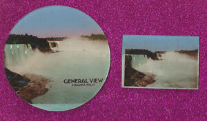 OLD GLASS NIAGARA FALLS SOUVENIRS ~ MARKED MADE IN GERMANY
