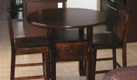 Bar height round table and chairs
